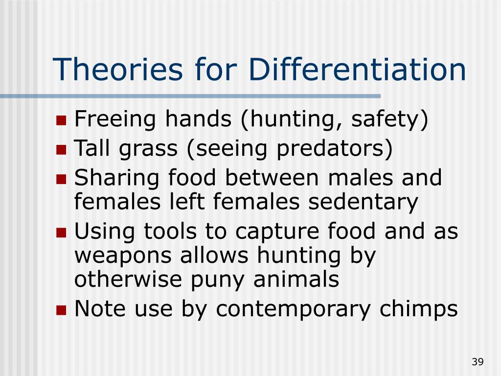 Theories for Differentiation