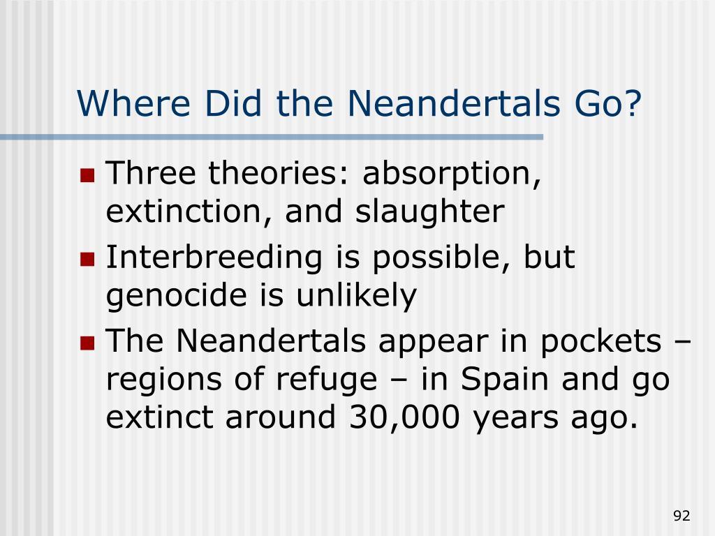 Where Did the Neandertals Go?
