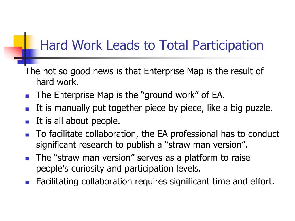 Hard Work Leads to Total Participation