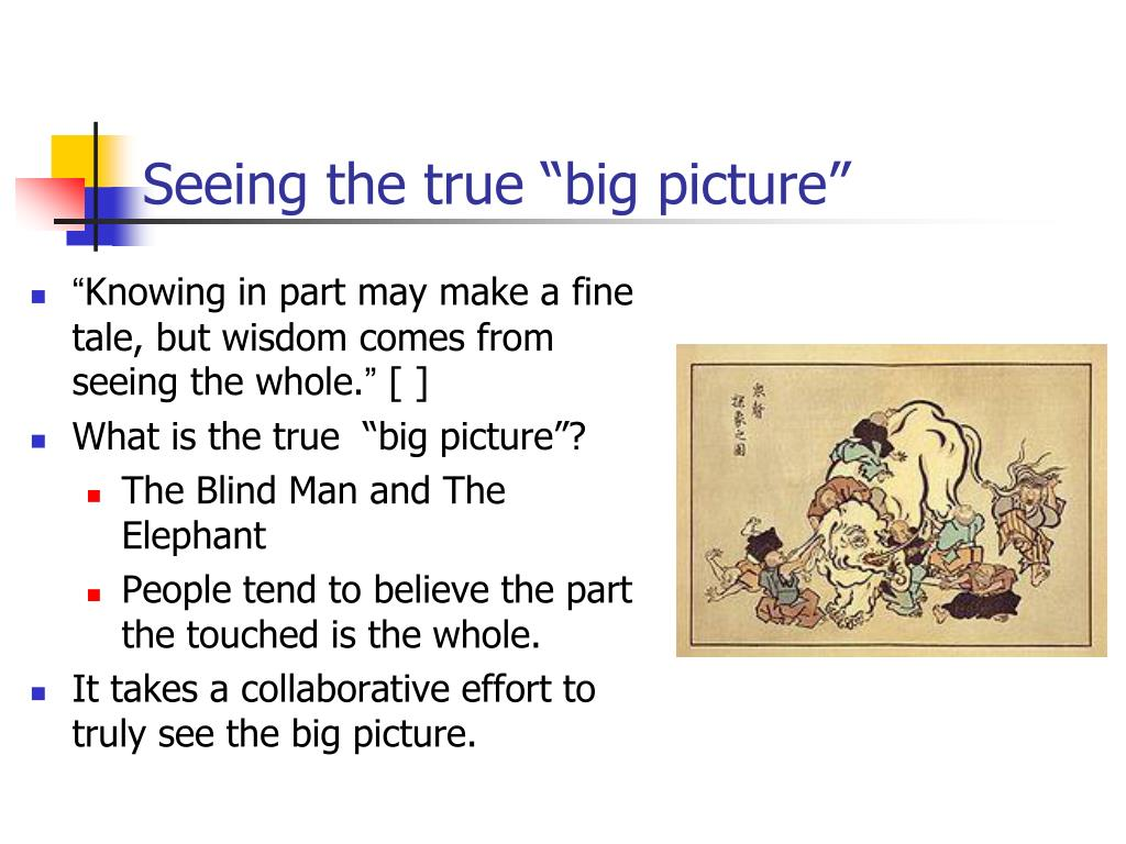 """Seeing the true """"big picture"""""""