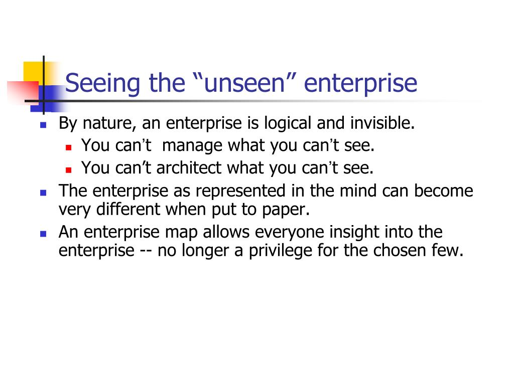 """Seeing the """"unseen"""" enterprise"""