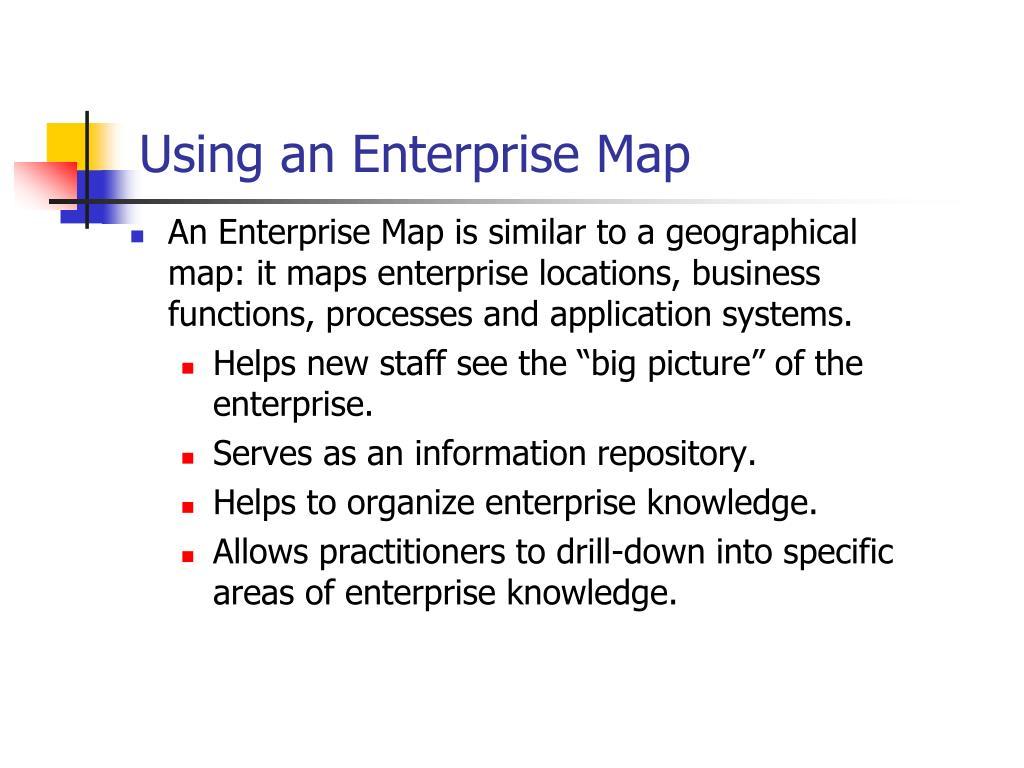 Using an Enterprise Map