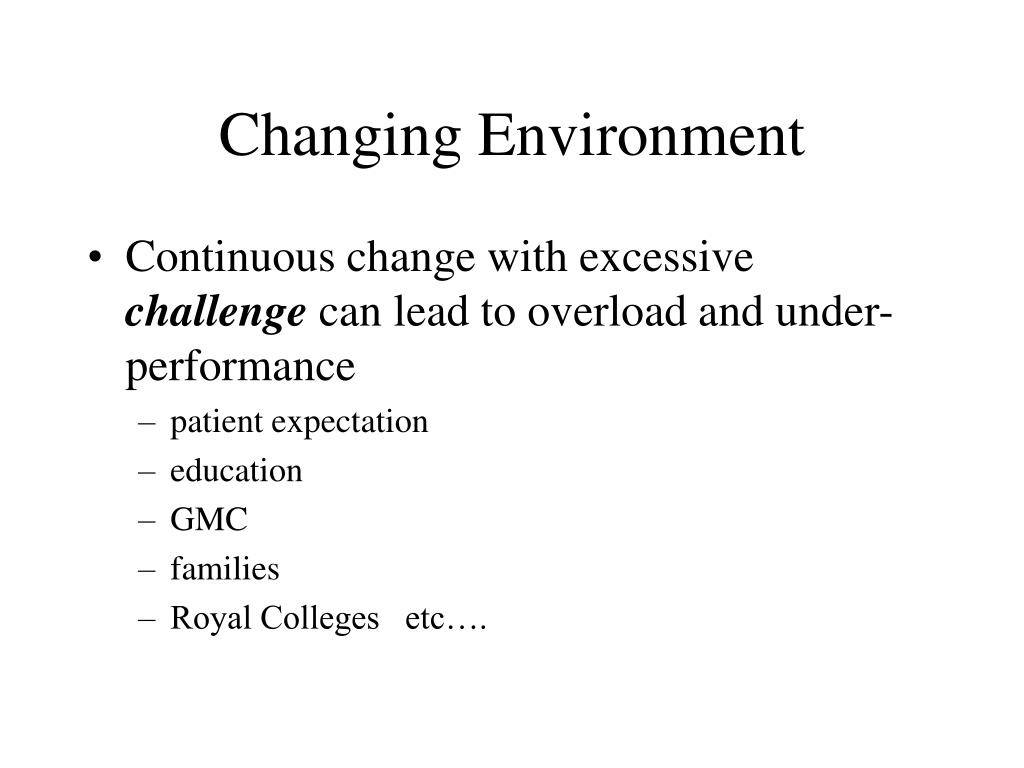 Changing Environment