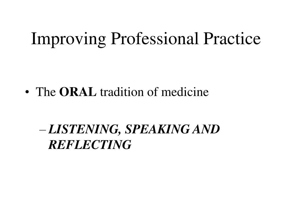 Improving Professional Practice