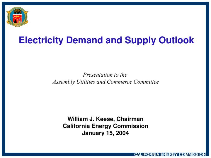 Electricity demand and supply outlook