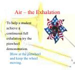 air the exhalation
