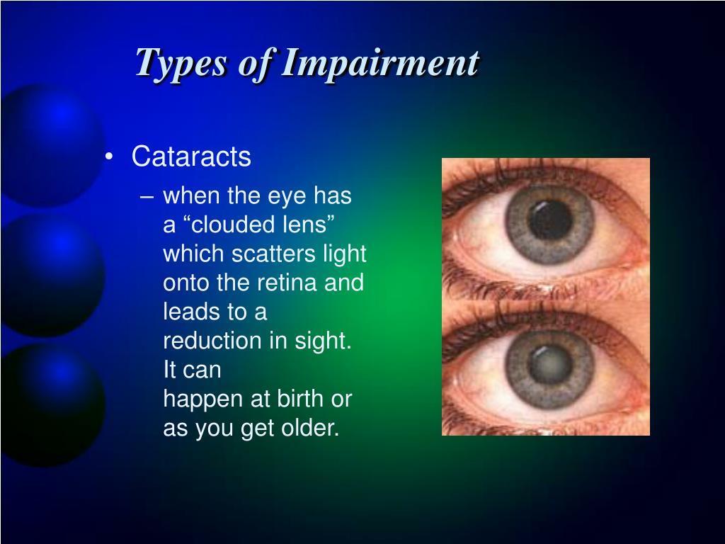 Types of Impairment