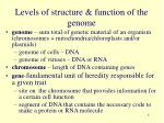 levels of structure function of the genome