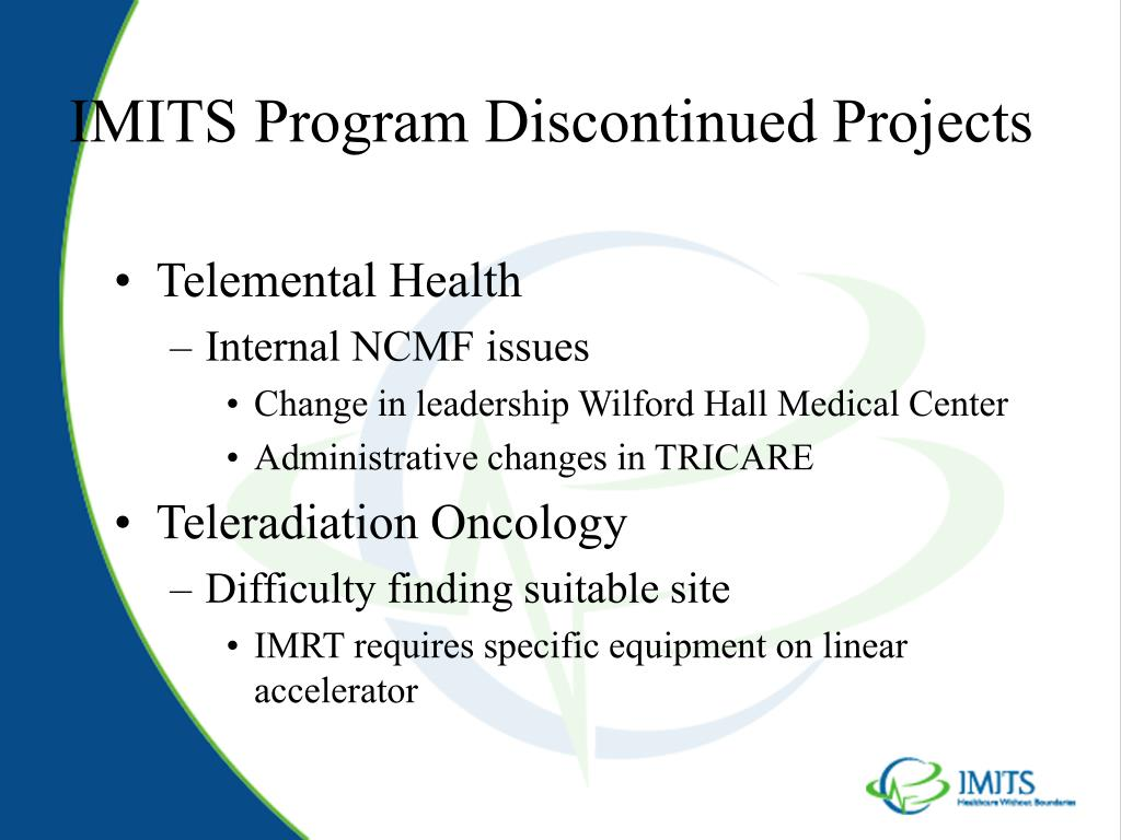 IMITS Program Discontinued Projects