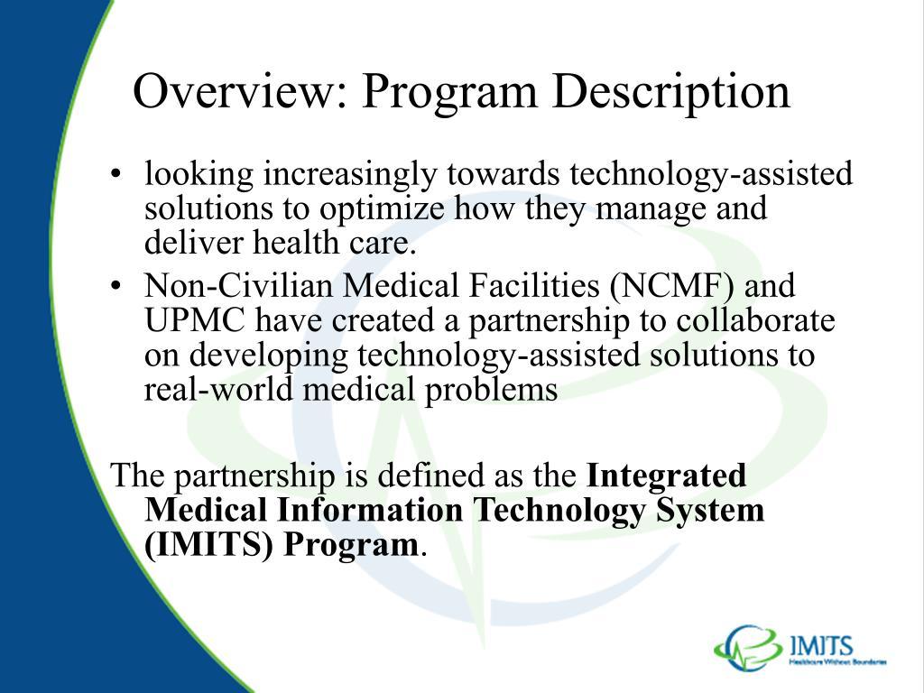 Overview: Program Description