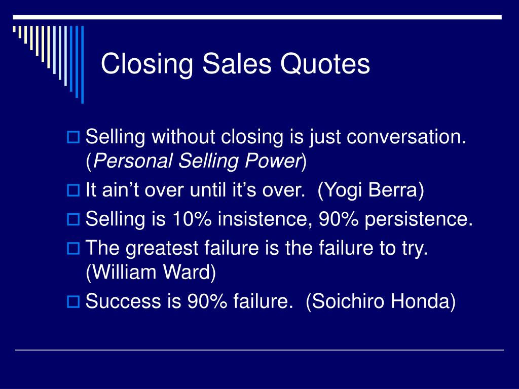 closing sales quotes l.