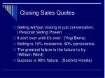 closing sales quotes