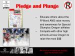 pledge and plunge