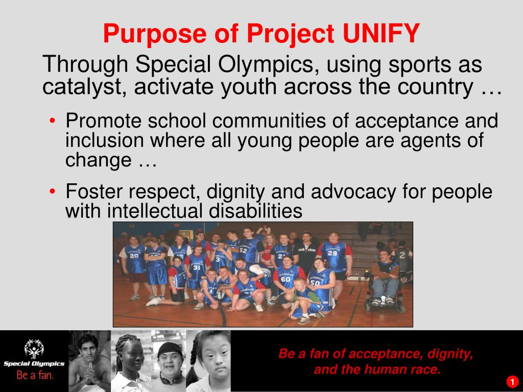 purpose of project unify l.