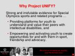 why project unify