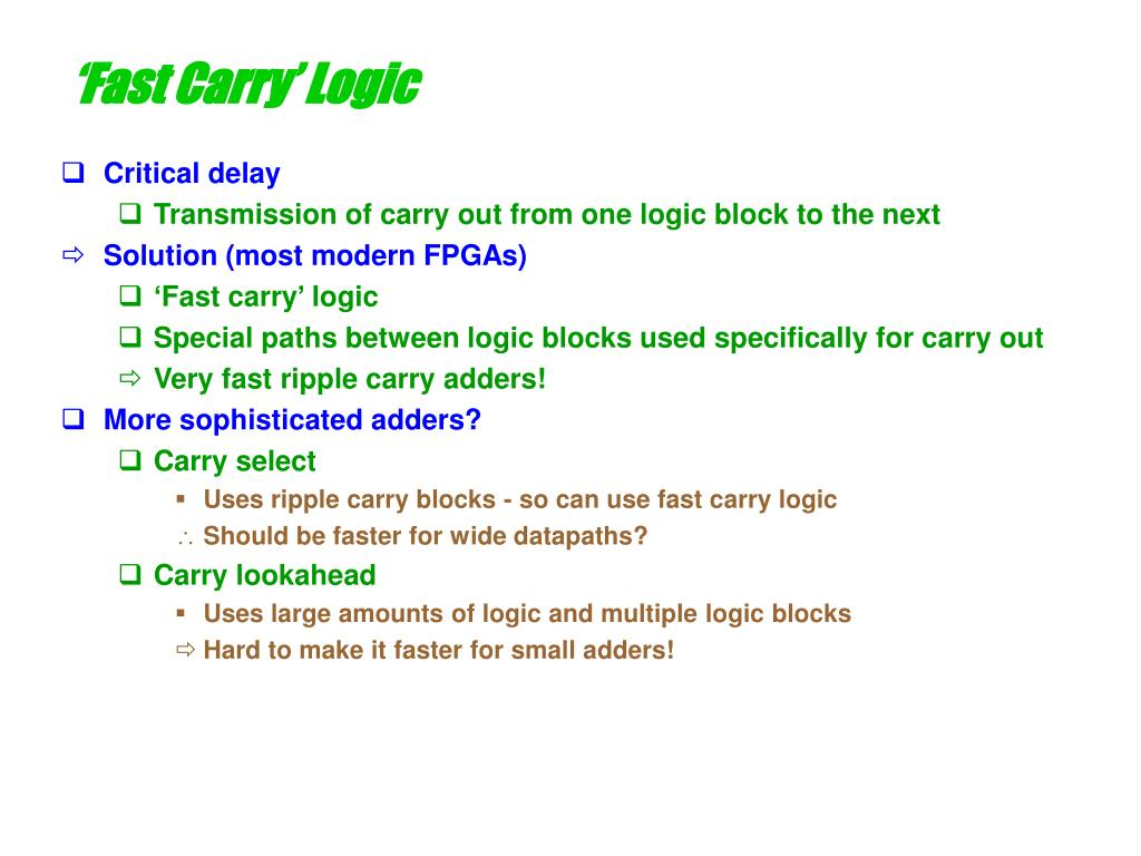 'Fast Carry' Logic