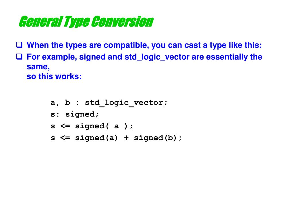 General Type Conversion