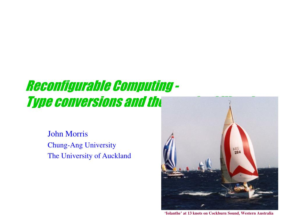 Reconfigurable Computing -