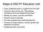 steps of dscyf education unit