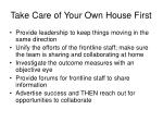take care of your own house first