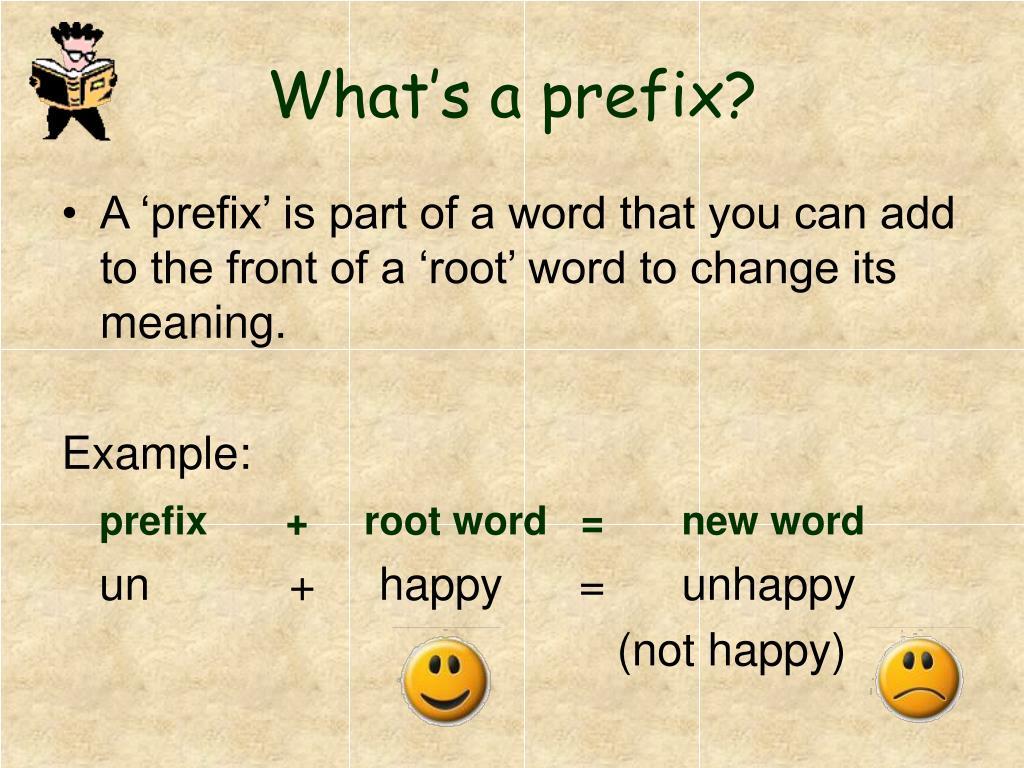 What's a prefix?