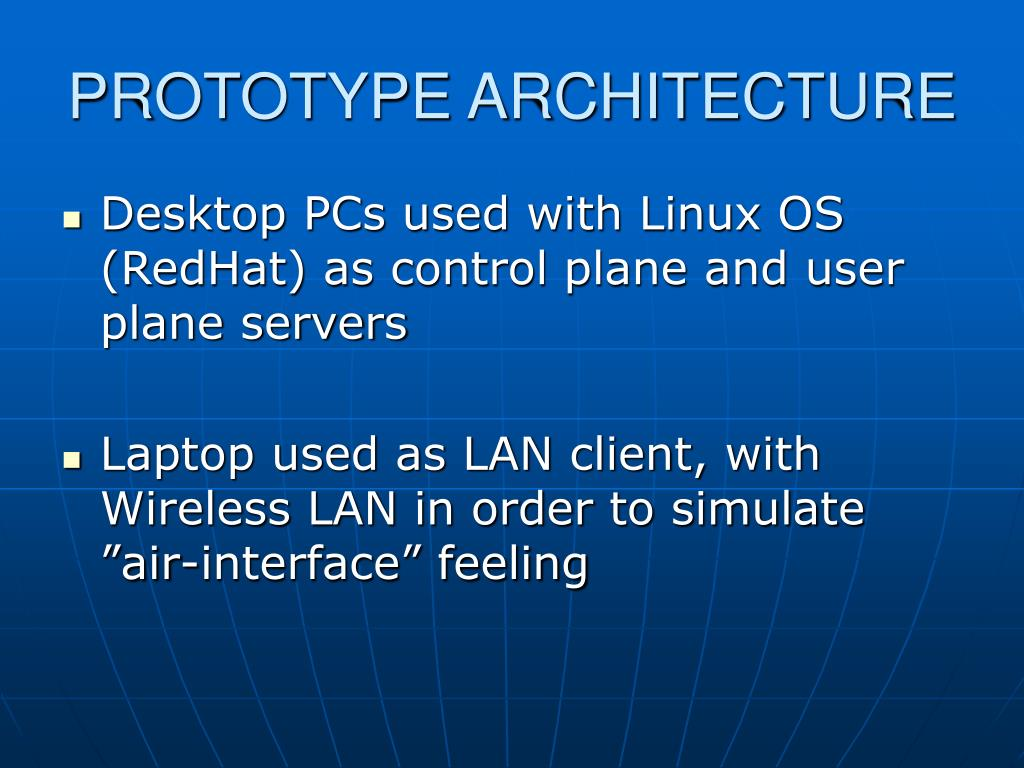 PROTOTYPE ARCHITECTURE