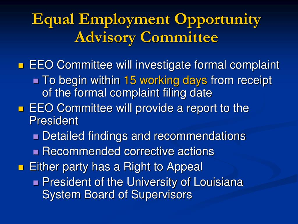 Equal Employment Opportunity Advisory Committee