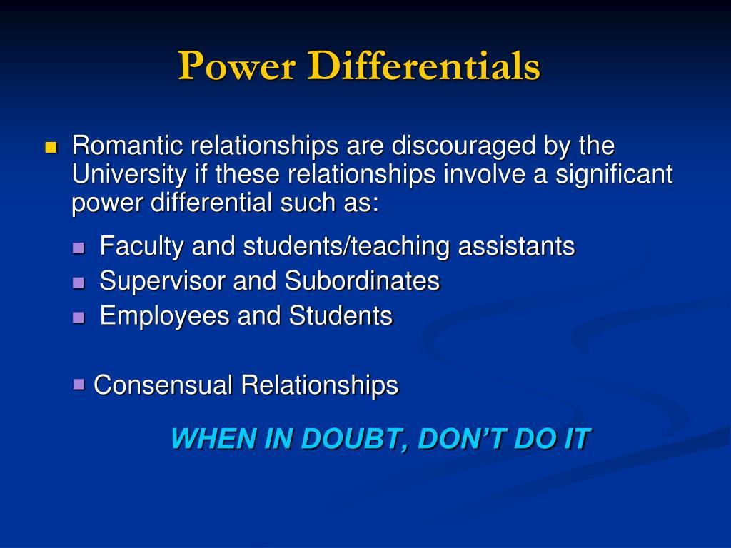 Power Differentials