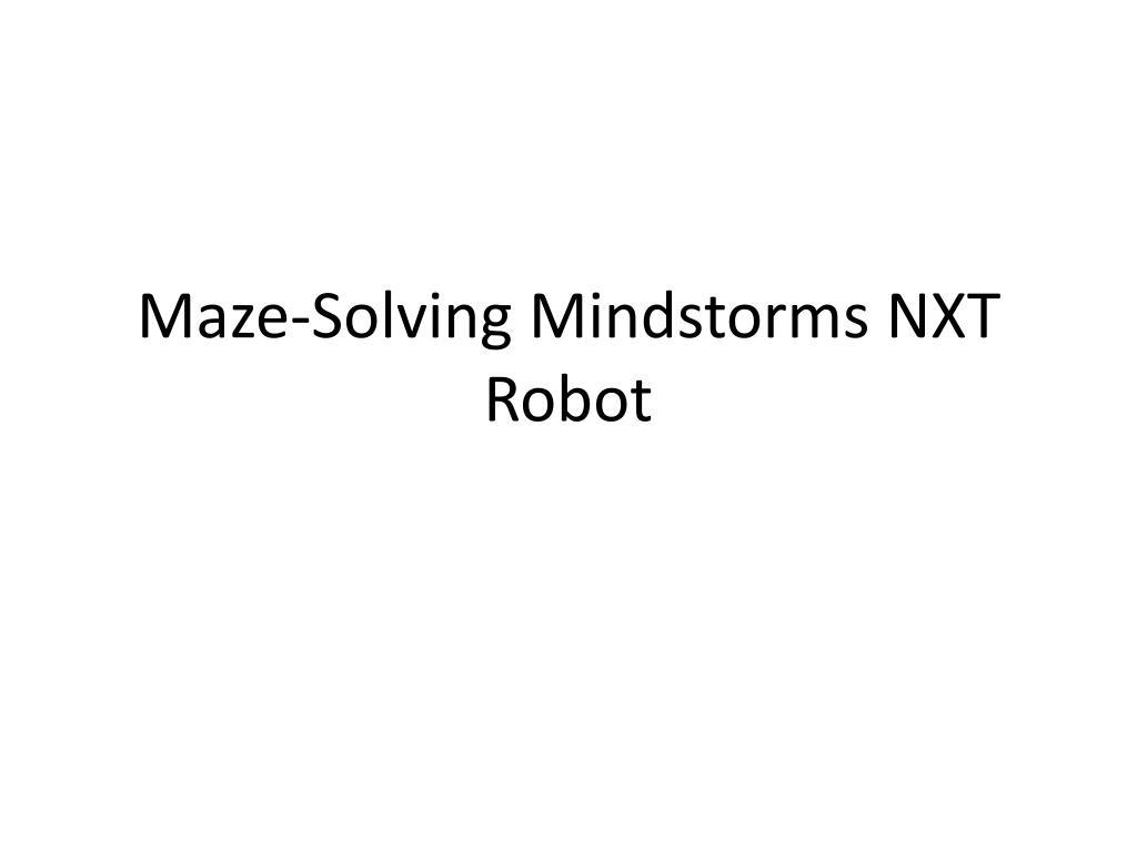 maze solving mindstorms nxt robot l.