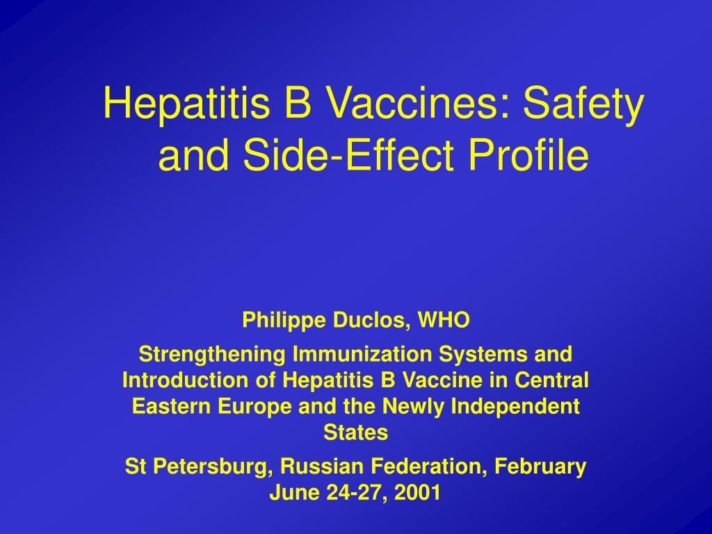 hepatitis b vaccines safety and side effect profile