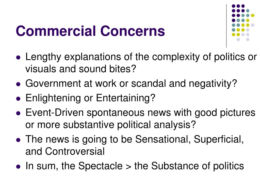 Commercial Concerns