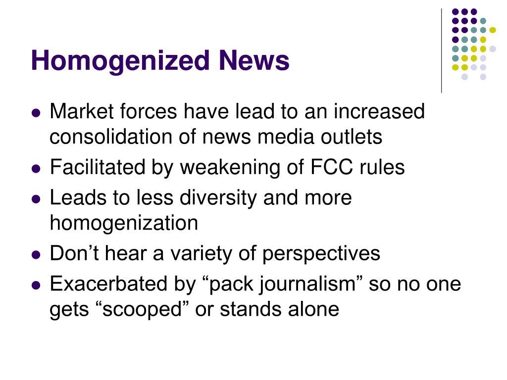 Homogenized News