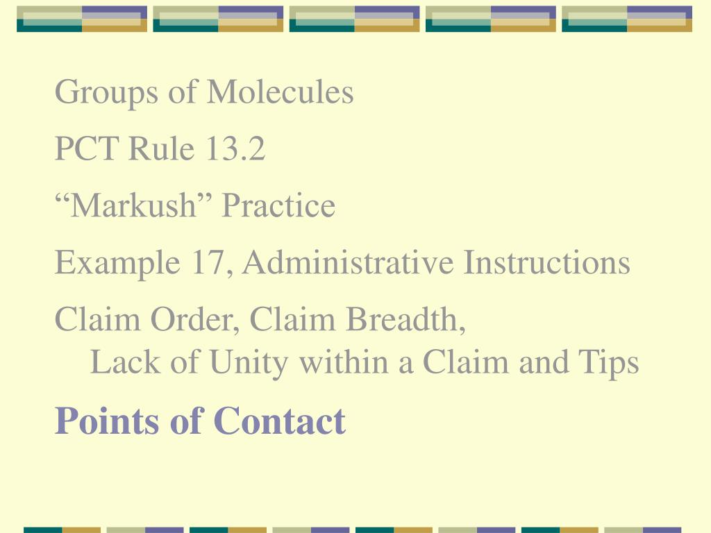 Groups of Molecules