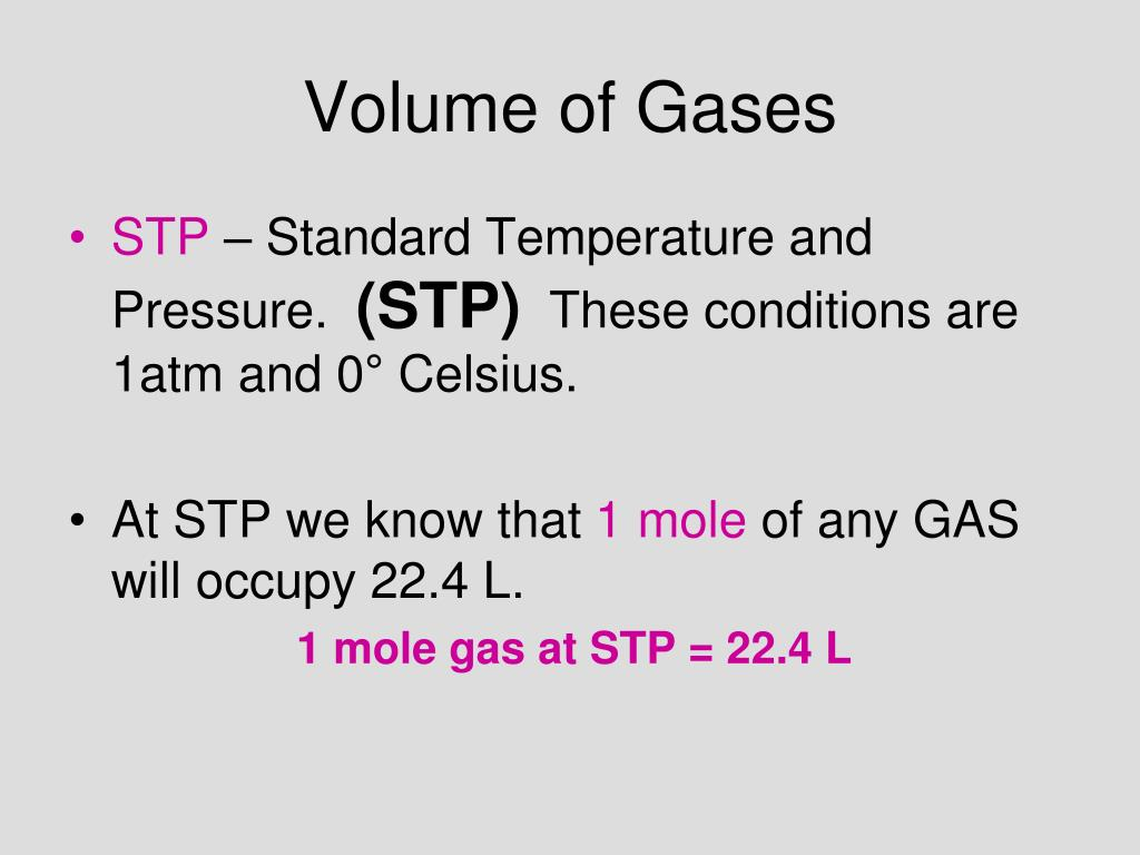 Volume of Gases