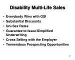 disability multi life sales