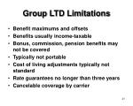 group ltd limitations