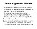 group supplement features