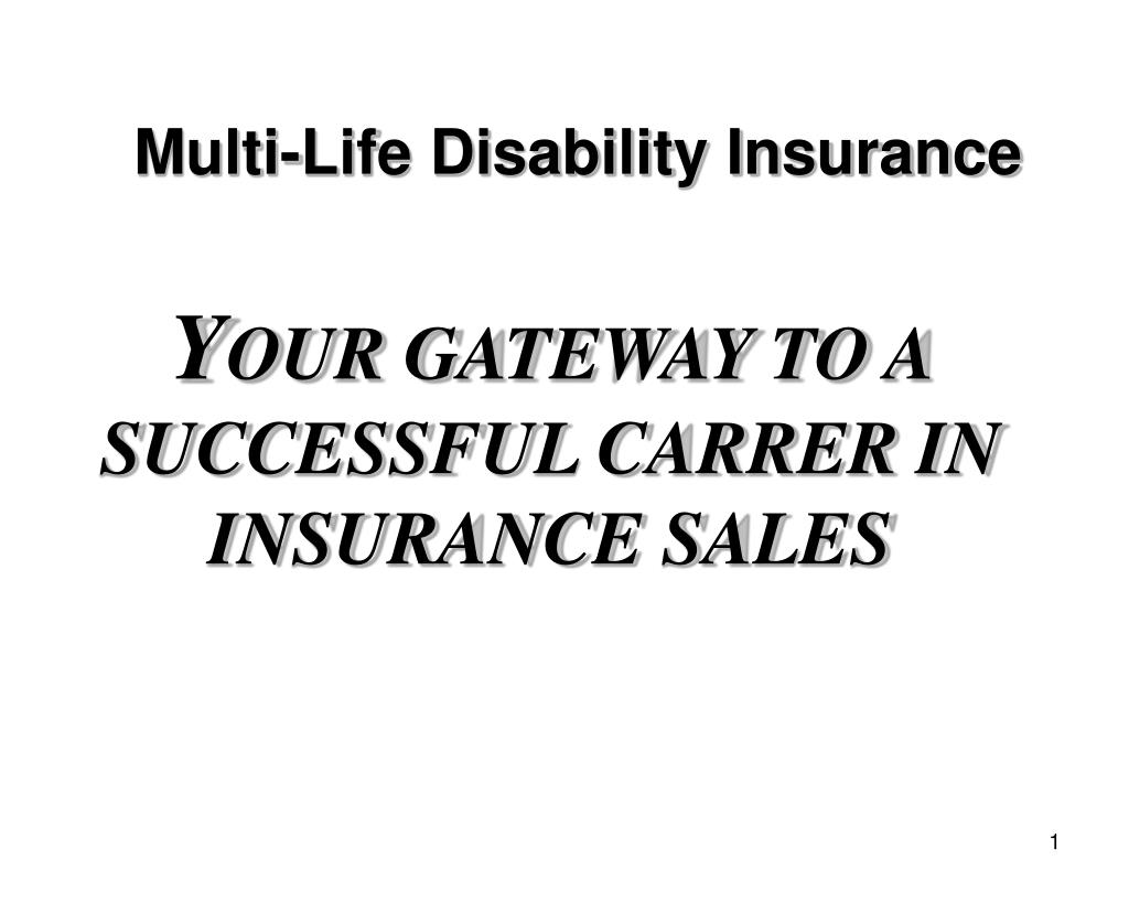 multi life disability insurance