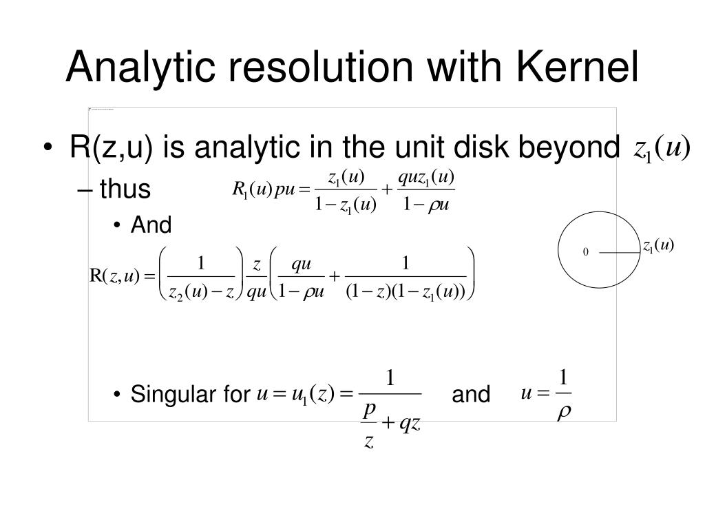 Analytic resolution with Kernel