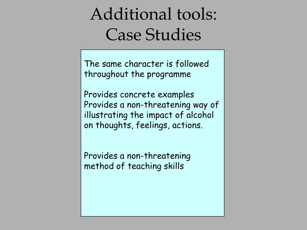 Additional tools: