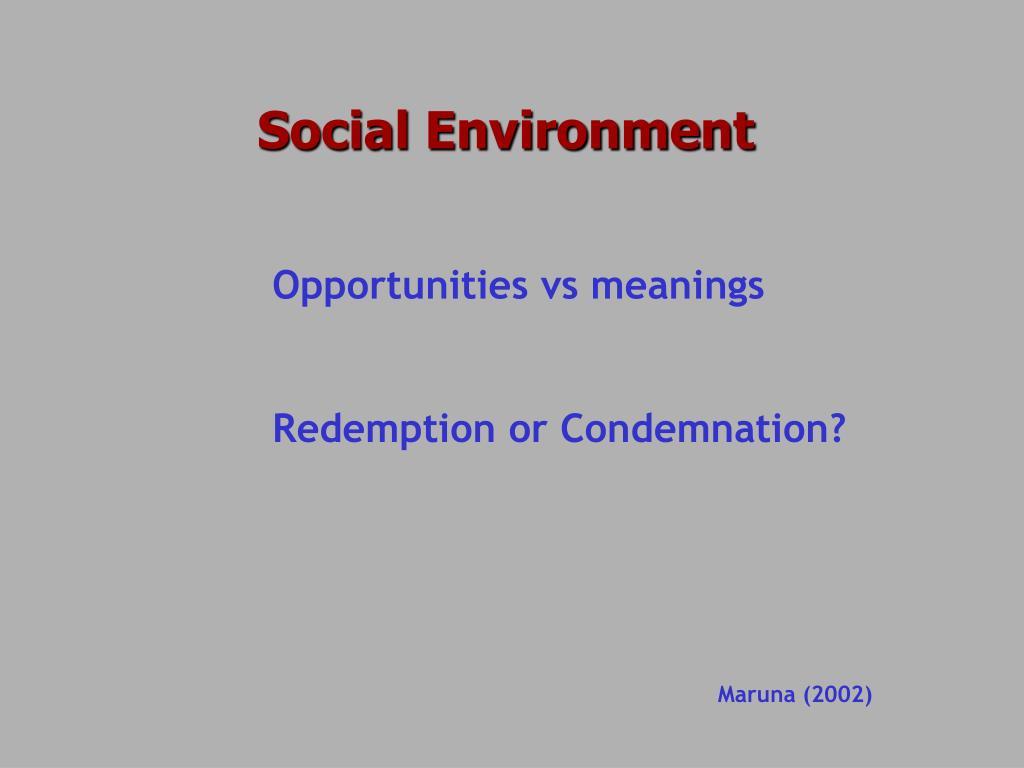 Social Environment
