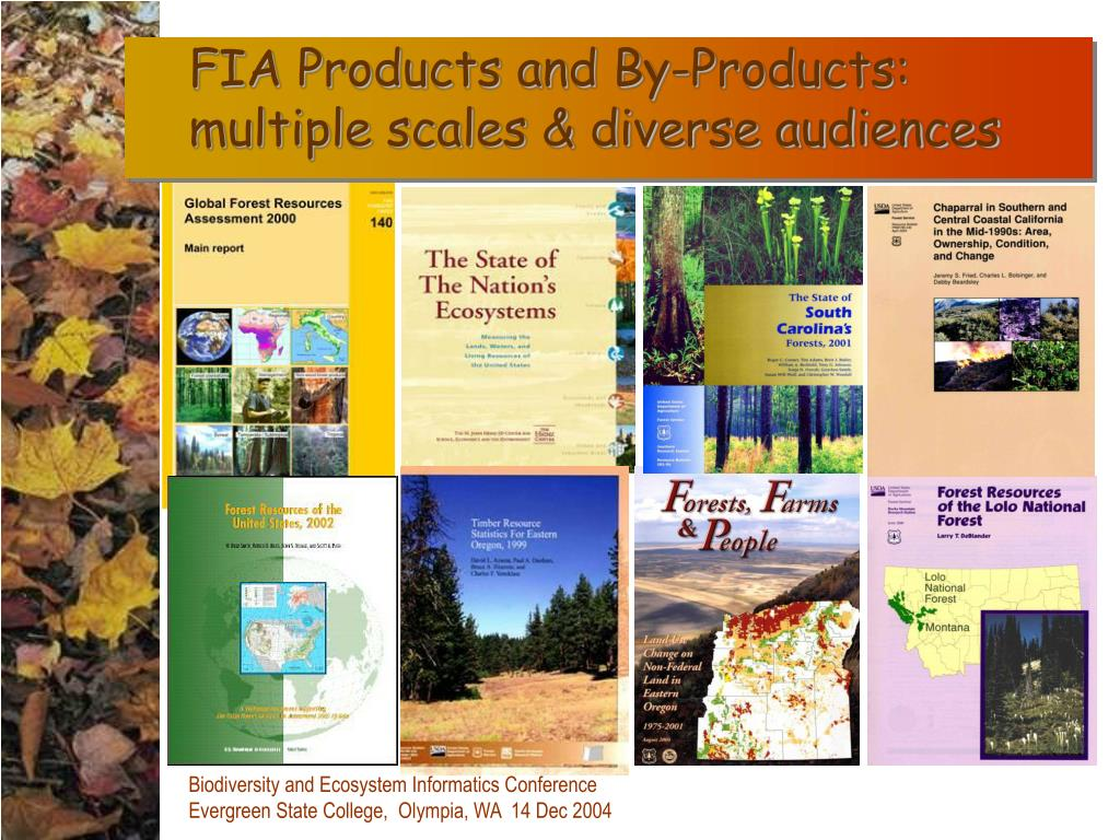 FIA Products and By-Products:  multiple scales & diverse audiences