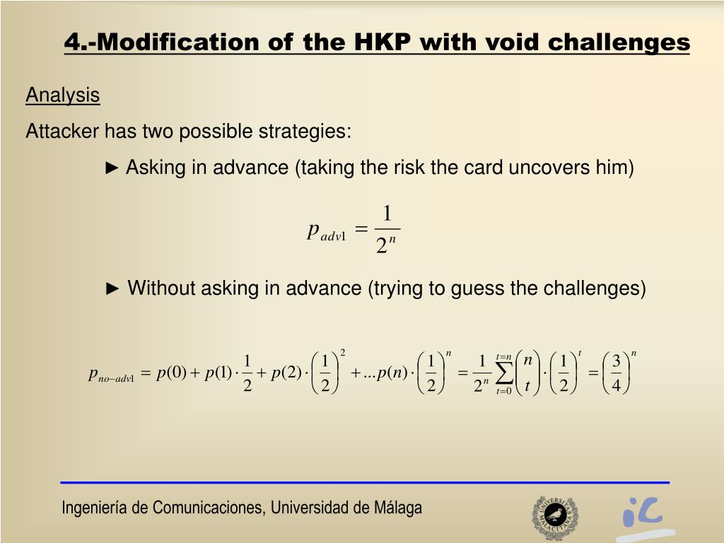 4.-Modification of the HKP with void challenges