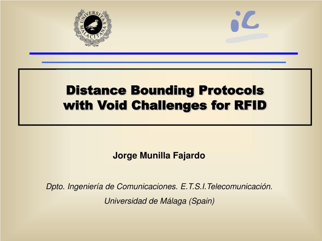 Distance Bounding Protocols