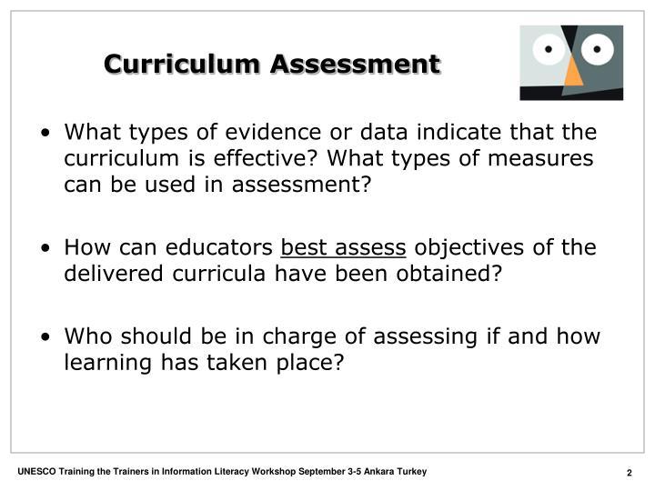 Curriculum assessment2