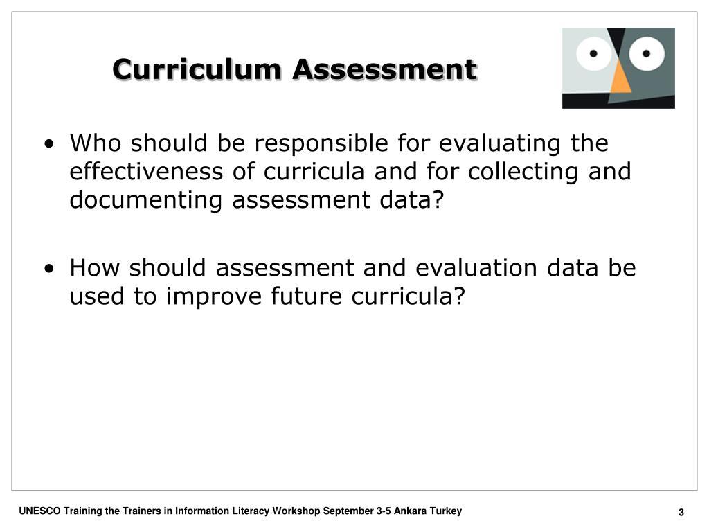 Curriculum Assessment