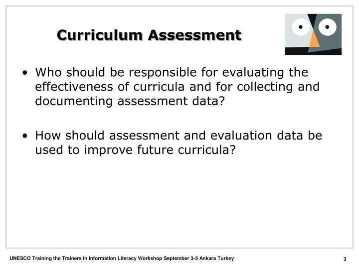 Curriculum assessment3