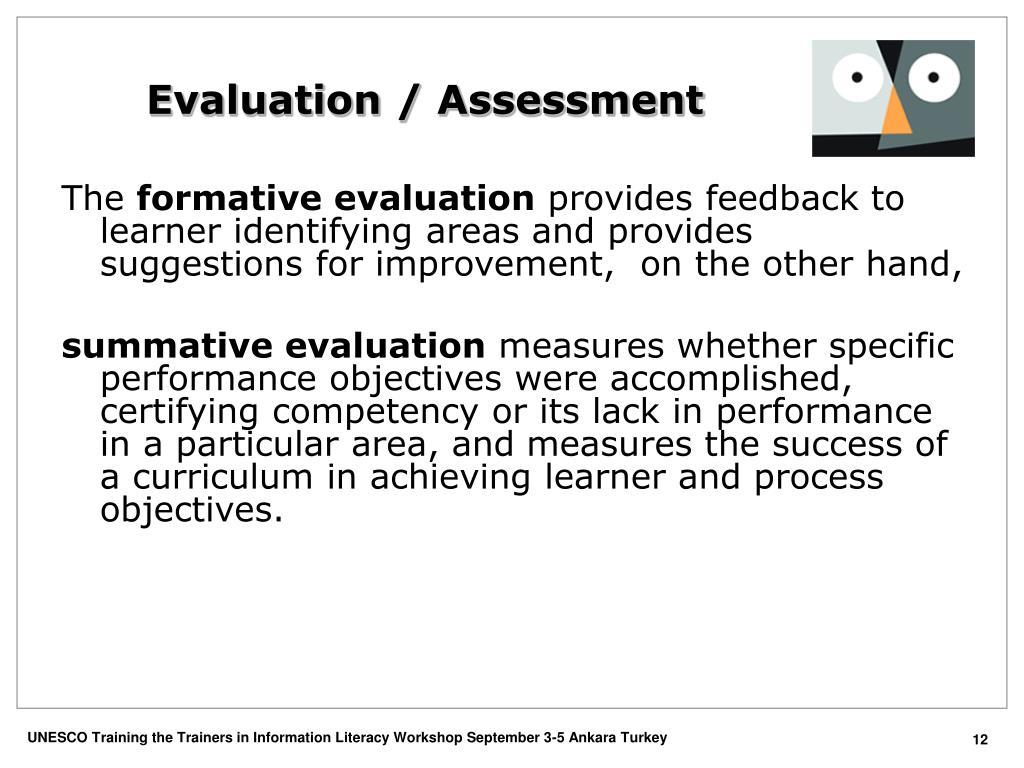 Evaluation / Assessment