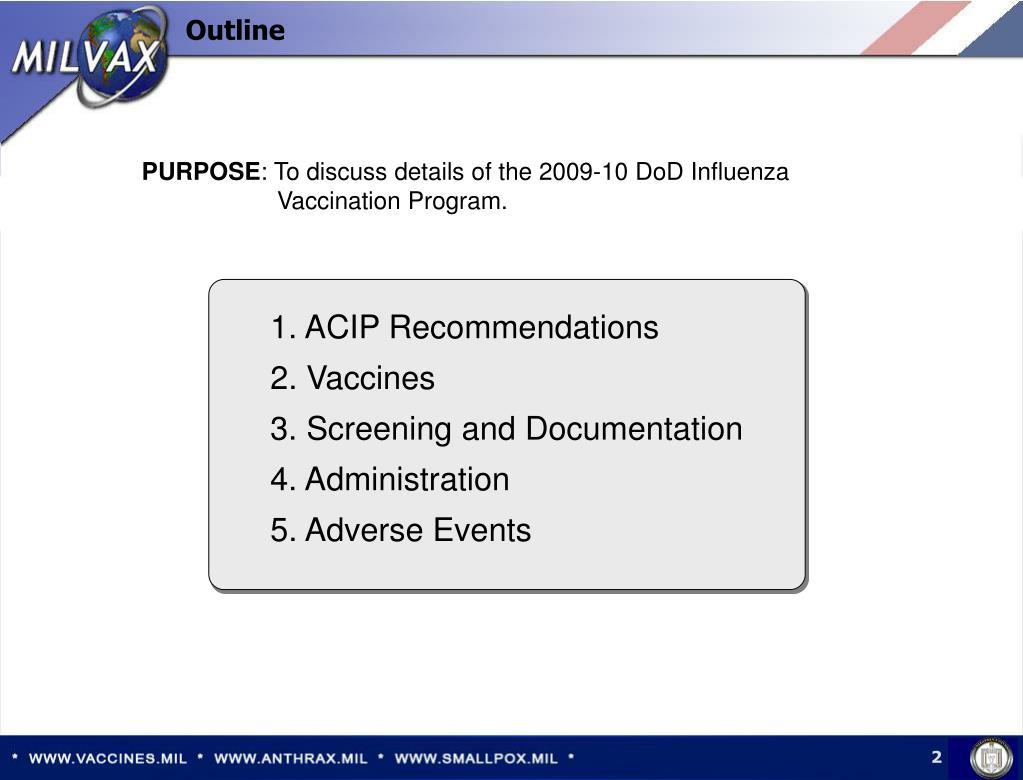 1. ACIP Recommendations