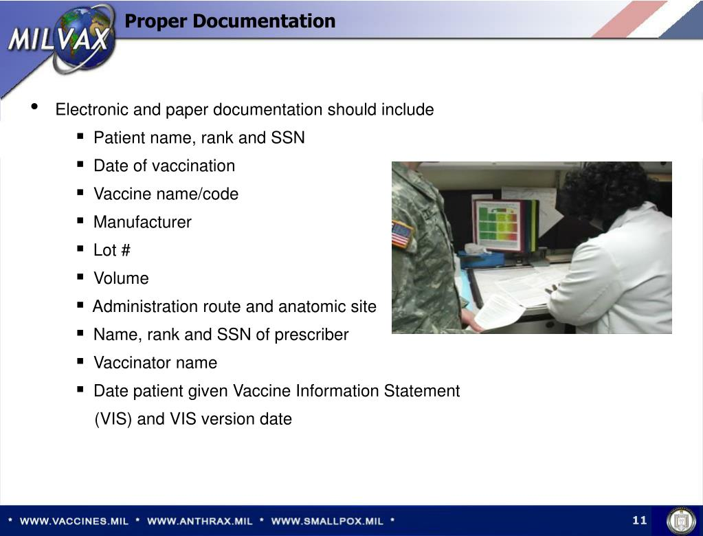 Electronic and paper documentation should include